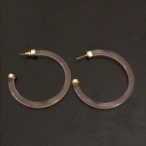 Jewelry - Lucite hoop earrings